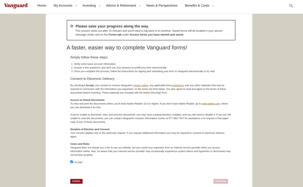 How and Why To Open a Custodial Roth IRA at Vanguard - Disclaimer