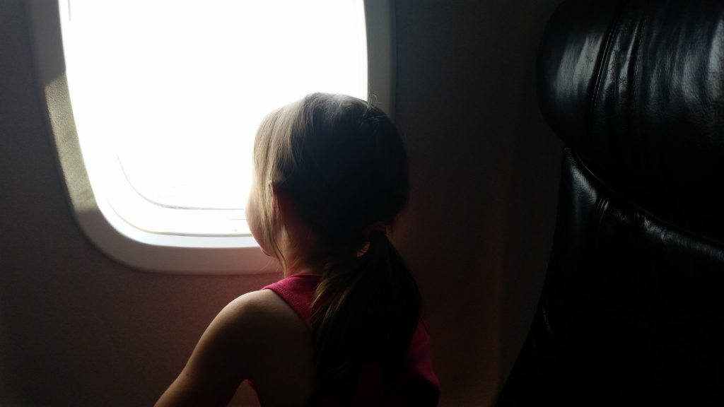 Panama Vacation - Part 1 - Nueva Gorgona and Anton Valley - On the plane...