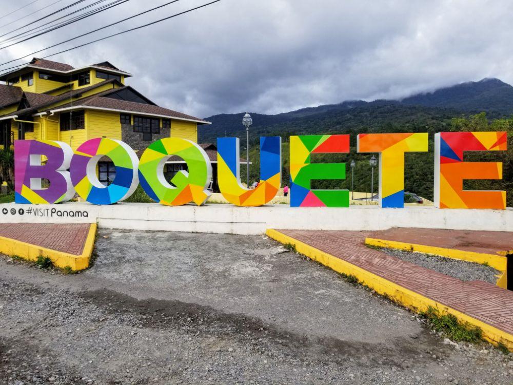 Boquete, Panama in Photos - Boquete sign