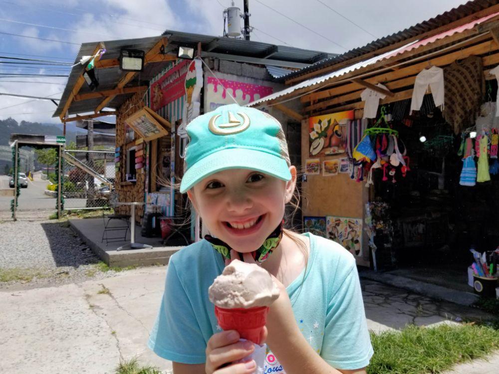 Faith with an ice cream