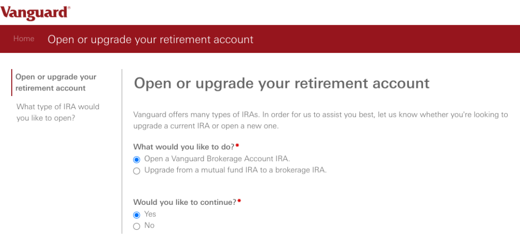 How and Why To Open a Custodial Roth IRA at Vanguard - Open account