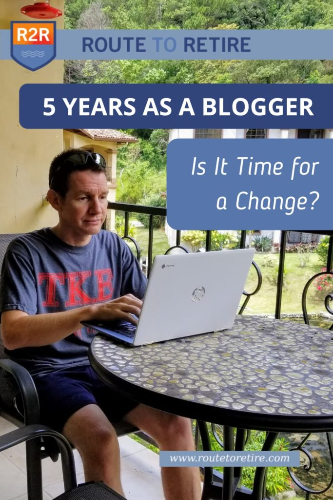 5 Years as a Blogger - Is It Time for a Change?