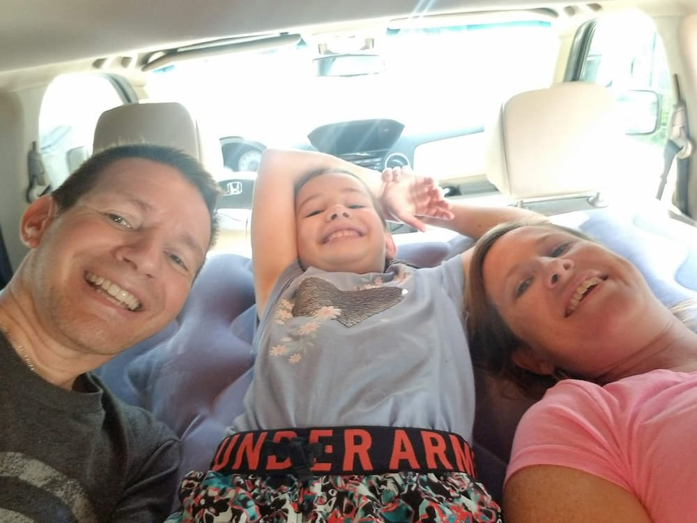 Tennessee and Arkansas - Leg 1 of the 2020 Road Trip! - Air Mattress in 2012 Honda Pilot