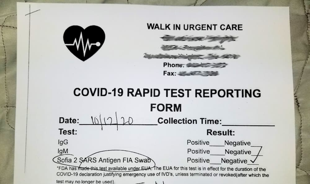 COVID-19 Reporting Results