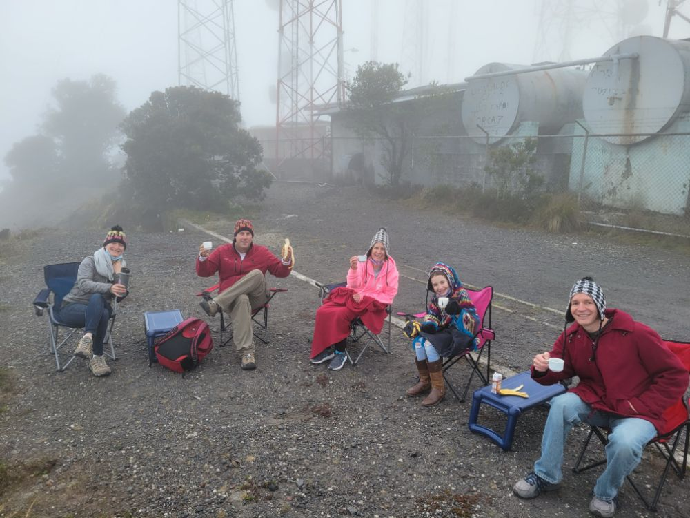 Breakfast atop Volcán Barú, an active volcano