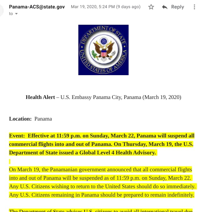Random Thoughts in These Unusual Times - Email from US Embassy