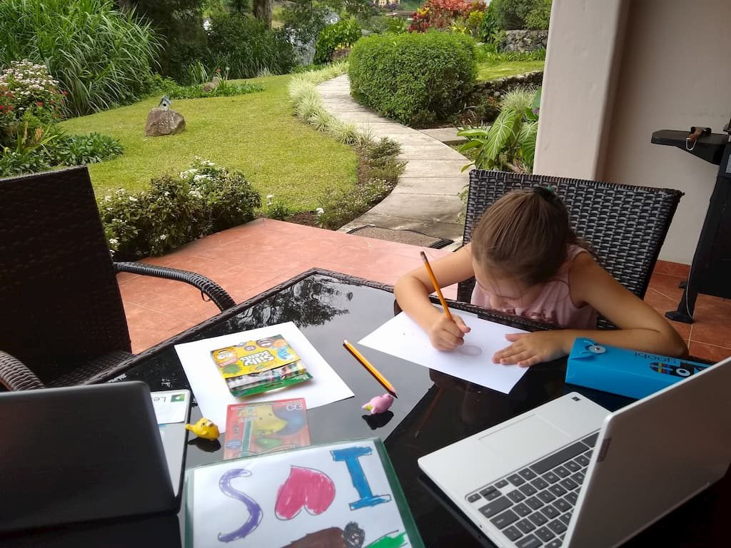 Our First Week of Homeschooling in Panama - Faith Doing Homeschooling