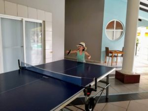 A Beach Vacation Totaling $405? Yes, Please! - Faith Playing Table Tennis