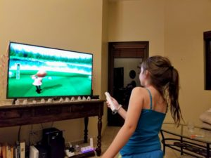 Faith Playing Wii Sports