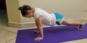 Faith doing Push-Ups