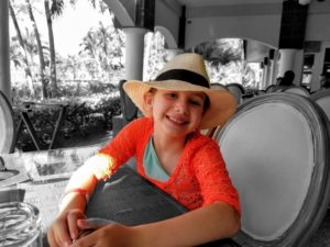 A Beach Vacation Totaling $405? Yes, Please! - Faith at the restaurant