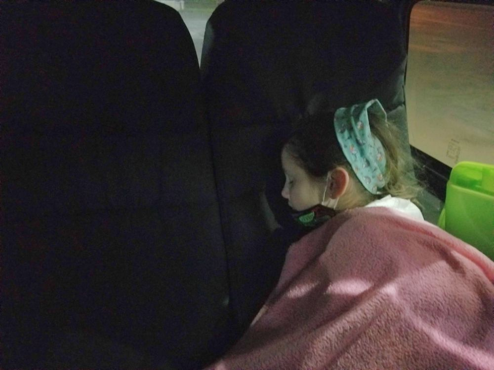 Our Trip to Panama – What to Expect As Borders Reopen - Faith sleeping in the van