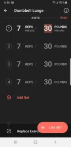 Fitbod App - Log Set