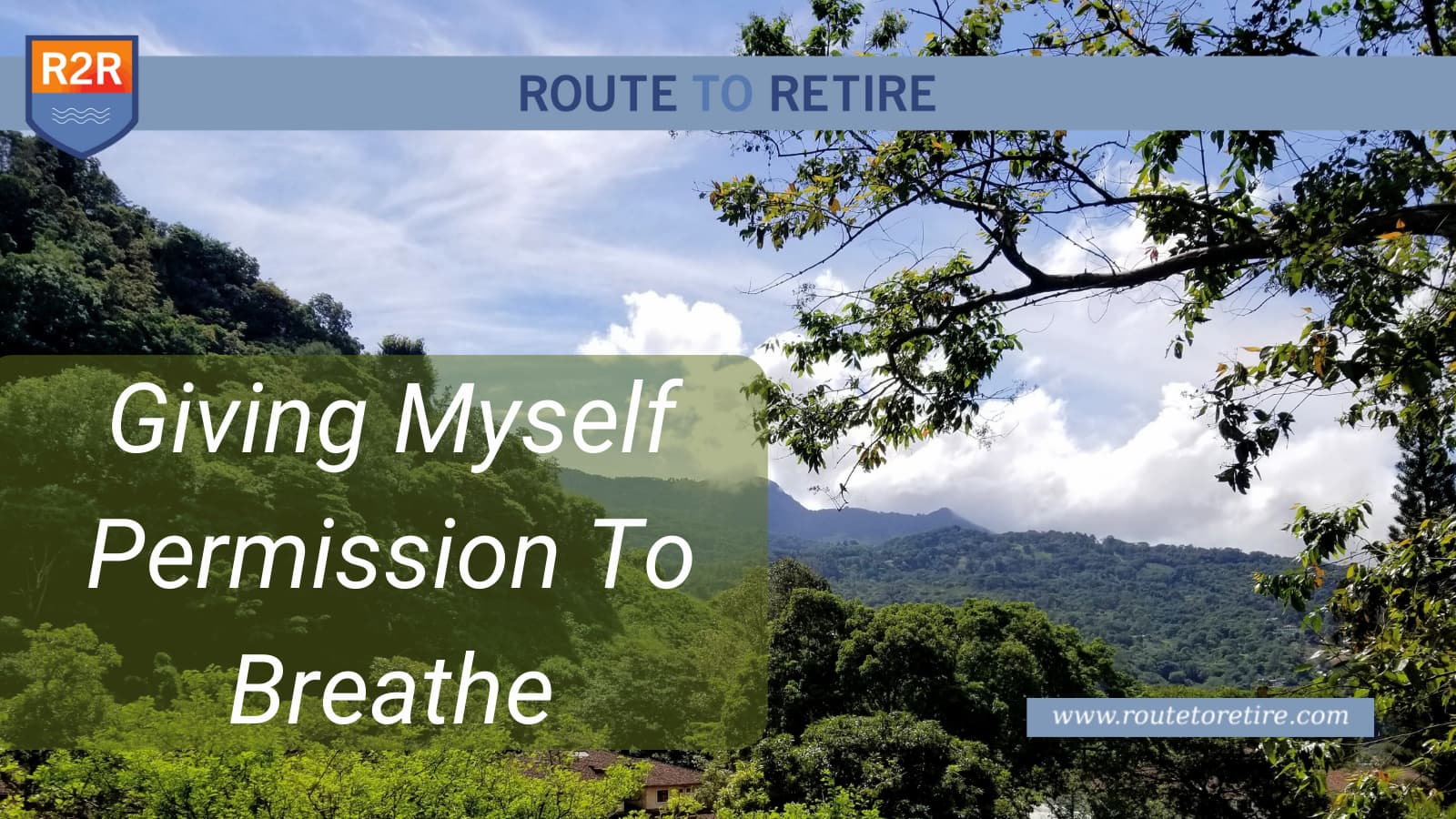 Giving Myself Permission To Breathe