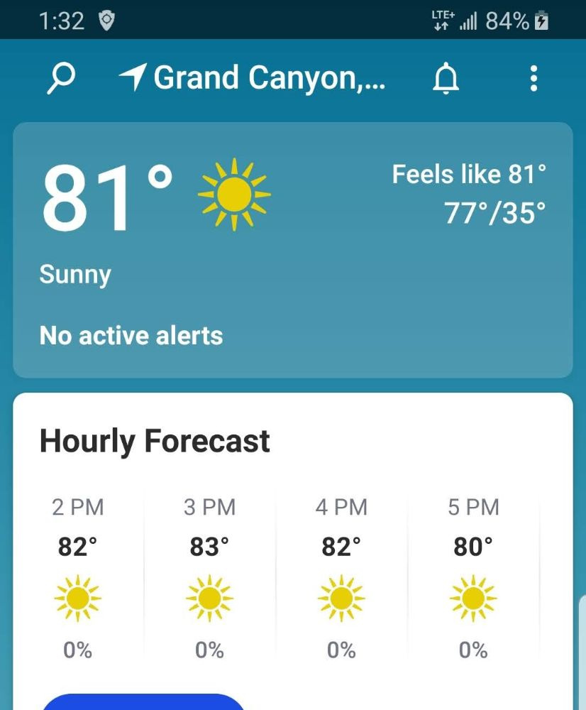 A Night at a Cracker Barrel to Start Leg 3 of the Road Trip - Grand Canyon Weather