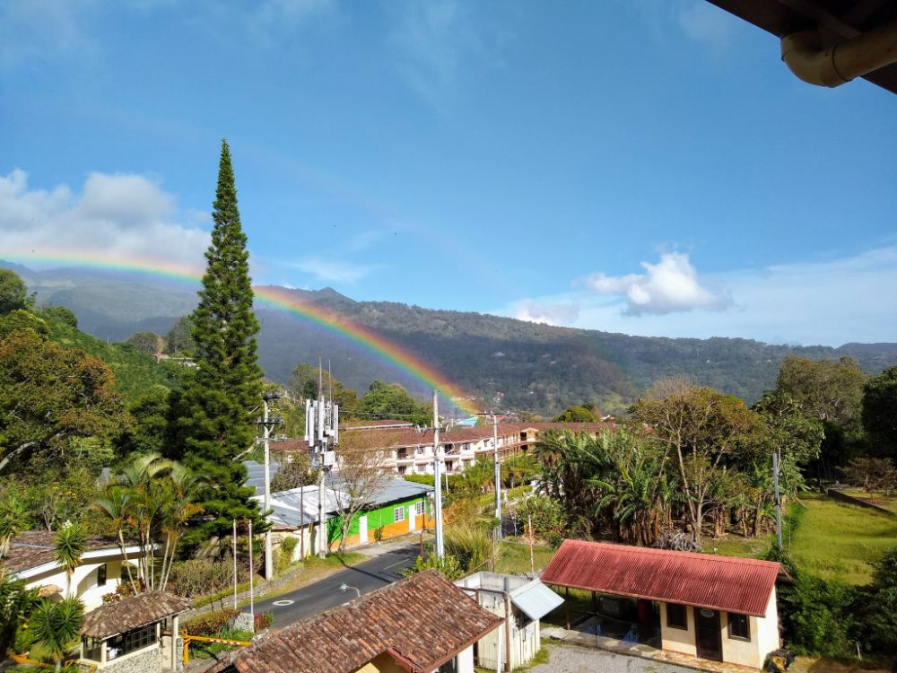 Our Moving Plans Changed Again… and That's OK - A rainbow leading to Valle del Rio