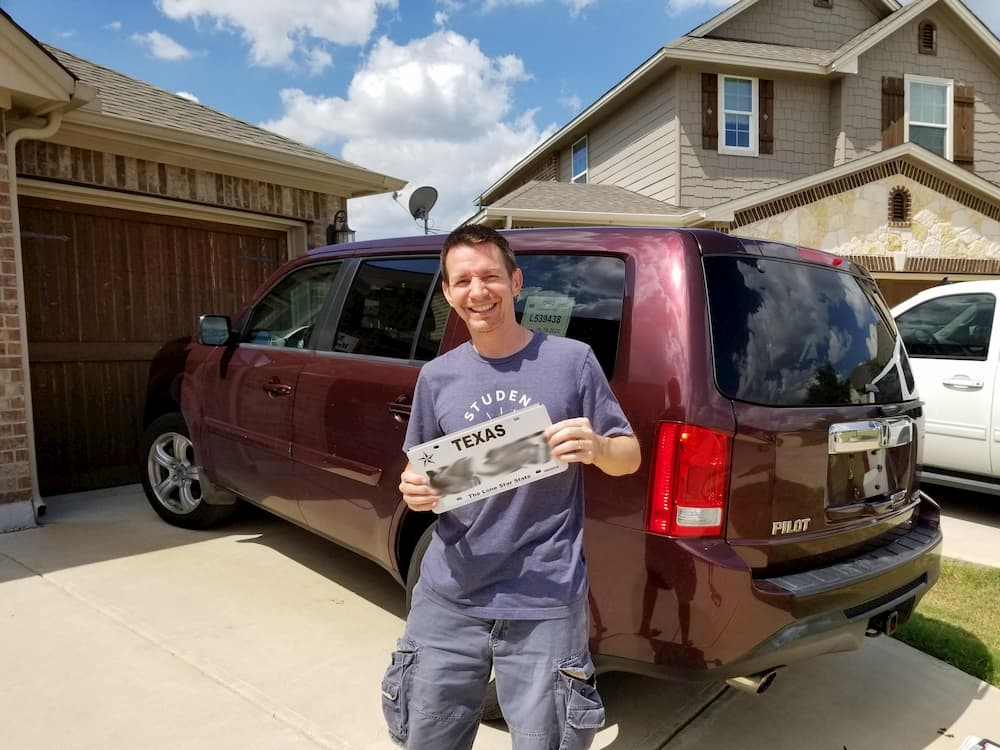 Three Weeks in Texas – A Big Stop on the Road Trip - My New Texas License Plate!