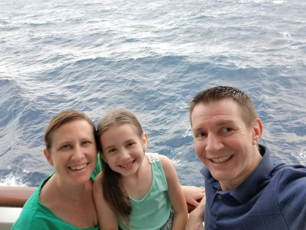 Designing Our New Life – The Power of Early Retirement - On our balcony on a cruise ship
