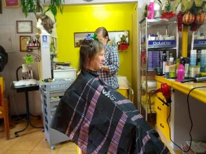 Lisa Getting a Haircut