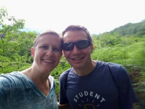 Lisa and Jim on a hike in Panama...