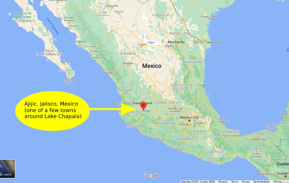 We're Saving Over $800 on Our Trip to Mexico… Here's the Plan - Map of Ajijic, Jalisco, Mexico (Lake Chapala)