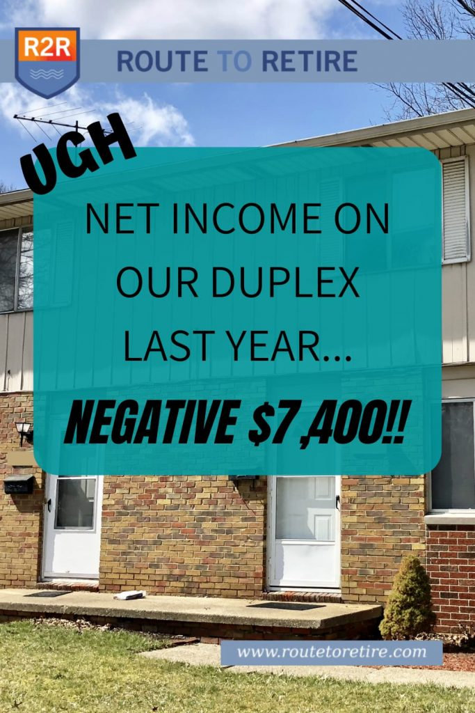 Net Income on Our Duplex Last Year... Negative $7,400!!