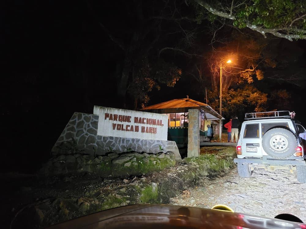 Volcán Barú entrance
