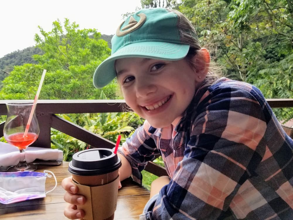 What I Did During My First Week Off in 6 Years! - Faith at Río Cristal Restaurant in Boquete Tree Trek