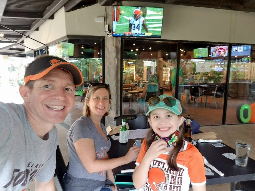 Making Plans for the Future – Stay or Go? - Watching the Cleveland Browns game at Tap Out sports bar.