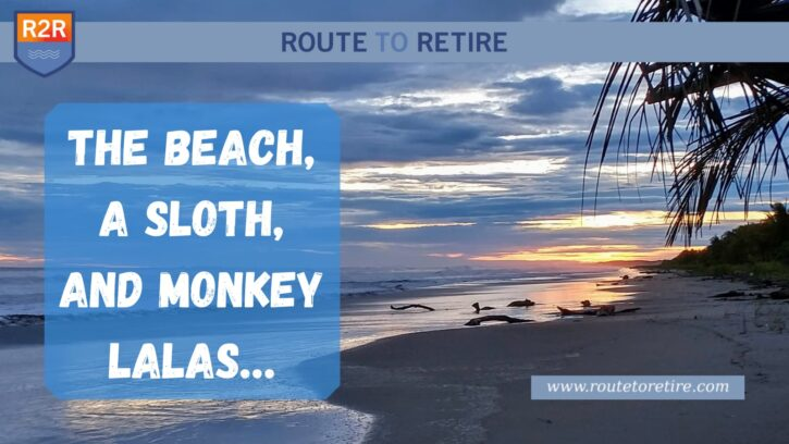 The Beach, a Sloth, and Monkey Lalas...