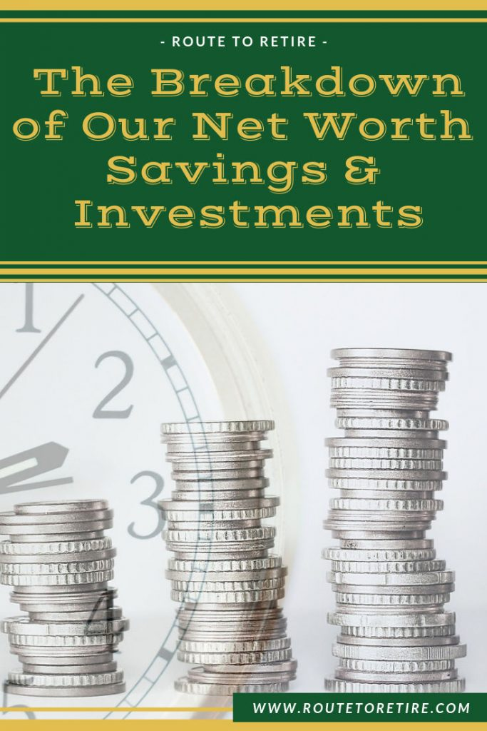The Breakdown of Our Net Worth Savings & Investments