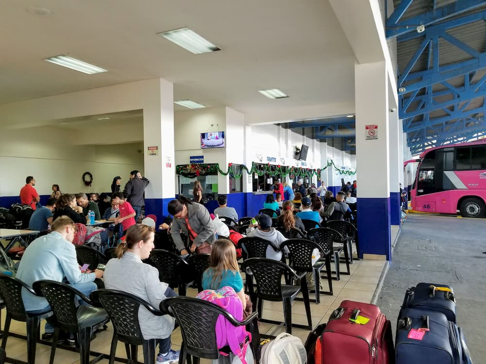 Our Return Trip to Panama - The Tracopa Bus Terminal