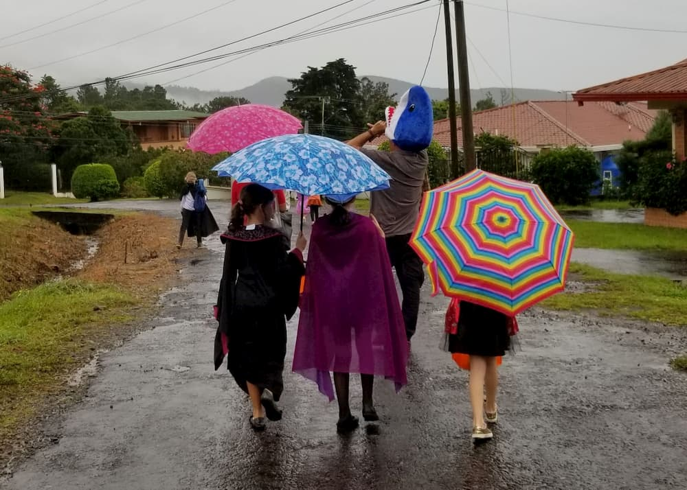 Moving to Boquete or Visiting? The Ultimate List of Tips!! - Trick-or-Treating in the rain