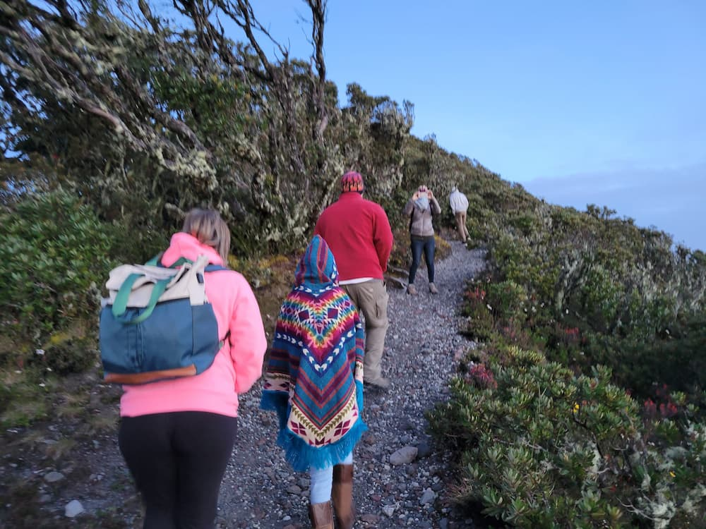 Walking up to the peak of Volcán Barú